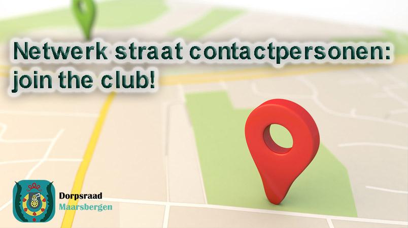 Netwerk straat contactpersonen: join the club!