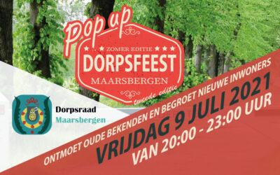 Pop-up Dorpsfeest 9 juli 2021